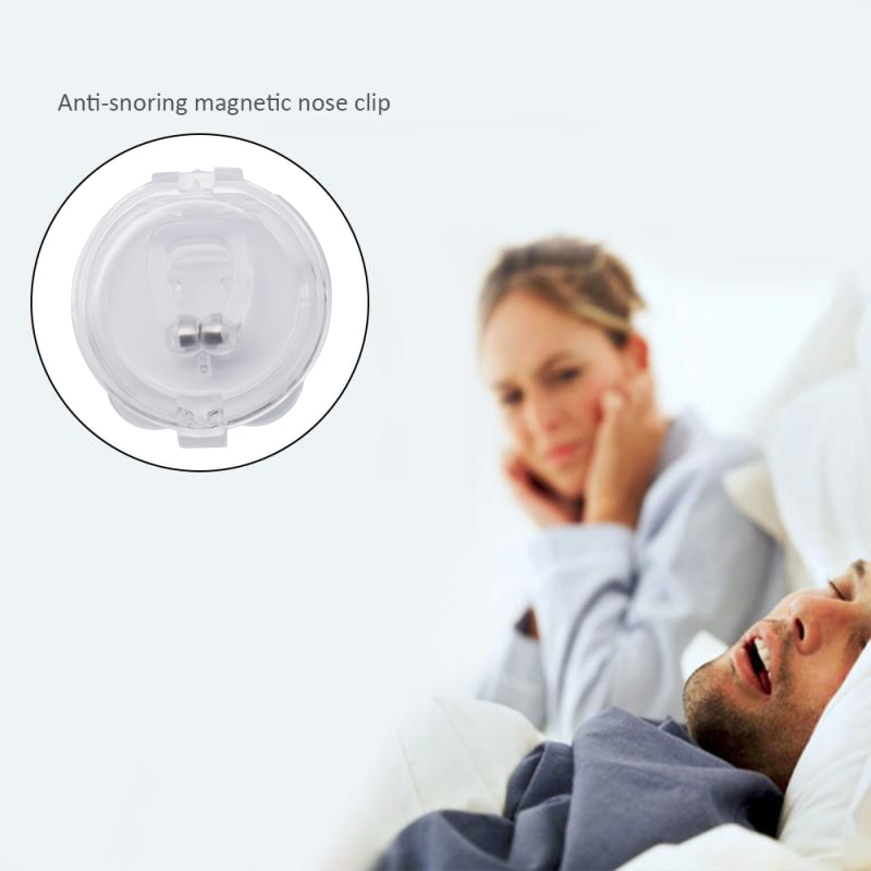 Snore Stopper Silent Sleep Silicone Nose Clip Magnetic Anti Snore Non Snoring Solution Aid For Sleeping
